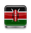 Metal icon of Kenya vector image vector image