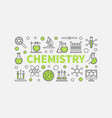 modern chemistry vector image