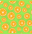 oranges seamless pattern citrus background with vector image vector image
