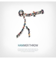 people sports hammer throw vector image