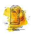 Poster beer mugs vector image