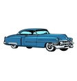 Retro blue car classic abstract model vector image vector image