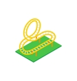 Rollercoaster isometric 3d icon vector image