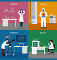 scientists people concept set vector image