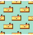 seamless pattern with piece of cakes isolated on vector image vector image
