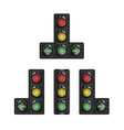 selection of traffic lights with additional vector image