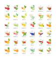 set flat icons tea vector image vector image