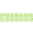 set green checkmark isolated vector image vector image