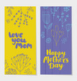 set of holiday spring vertical cards vector image vector image