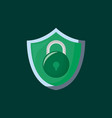 shield with padlock icon vector image vector image