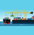 shipping ports vector image