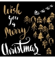 Silhouette Sleigh of Santa Claus and Reindeers vector image vector image