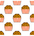 sweet cape cakes seamless pattern on white vector image vector image