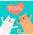 Sweet card for Mothers Day with cats vector image vector image