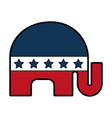 Usa elephant symbol icon