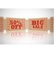 vintage paper sale ticket vector image vector image