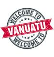 welcome to Vanuatu red round vintage stamp vector image vector image