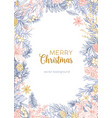 winter backdrop decorated by merry christmas wish vector image vector image