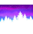 winter spruce forest vector image