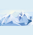 ice mountains with vector image
