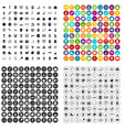 100 private school icons set variant vector image vector image