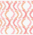 abstract pastel pattern with pink scribble waves vector image vector image