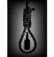 Alcoholism Old rope with hangmans noose with vector image vector image