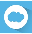 Blue and white design of cloud icon inside circle vector image vector image
