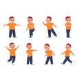 boy expressions cartoon little kid character vector image vector image