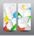 business web design vertical banners vector image vector image
