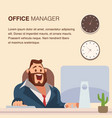 businessman in suit work at office desk by laptop vector image