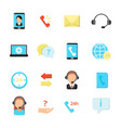 call center symbols various icon set of vector image