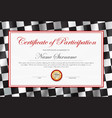 certificate participation diploma template vector image vector image