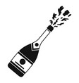 champagneicon simple style vector image vector image