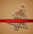 Christmas card - gingerbread tree vector image vector image