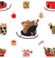 christmas gifts and candies vector image vector image