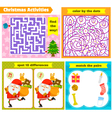 Christmas puzzle games vector image