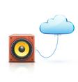 cloud storage concept vector image vector image