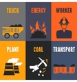 Coal industry mini posters vector image vector image