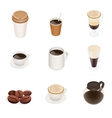 Coffee types coffee cup icons Graphic vector image
