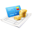 Coins card vector image