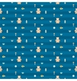 cute blue baby boy seamless pattern vector image vector image