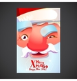 Cute Santa face poster vector image