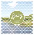 design template spring season poster vector image vector image
