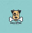 dog bone logo vector image vector image