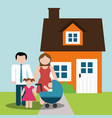 Family home parents and childrens image
