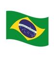 flag brazil emblem icon vector image vector image