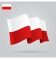 Flat and waving Polish Flag vector image vector image