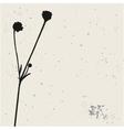 flower silhouette vector image