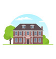 frontview english style suburban private house vector image